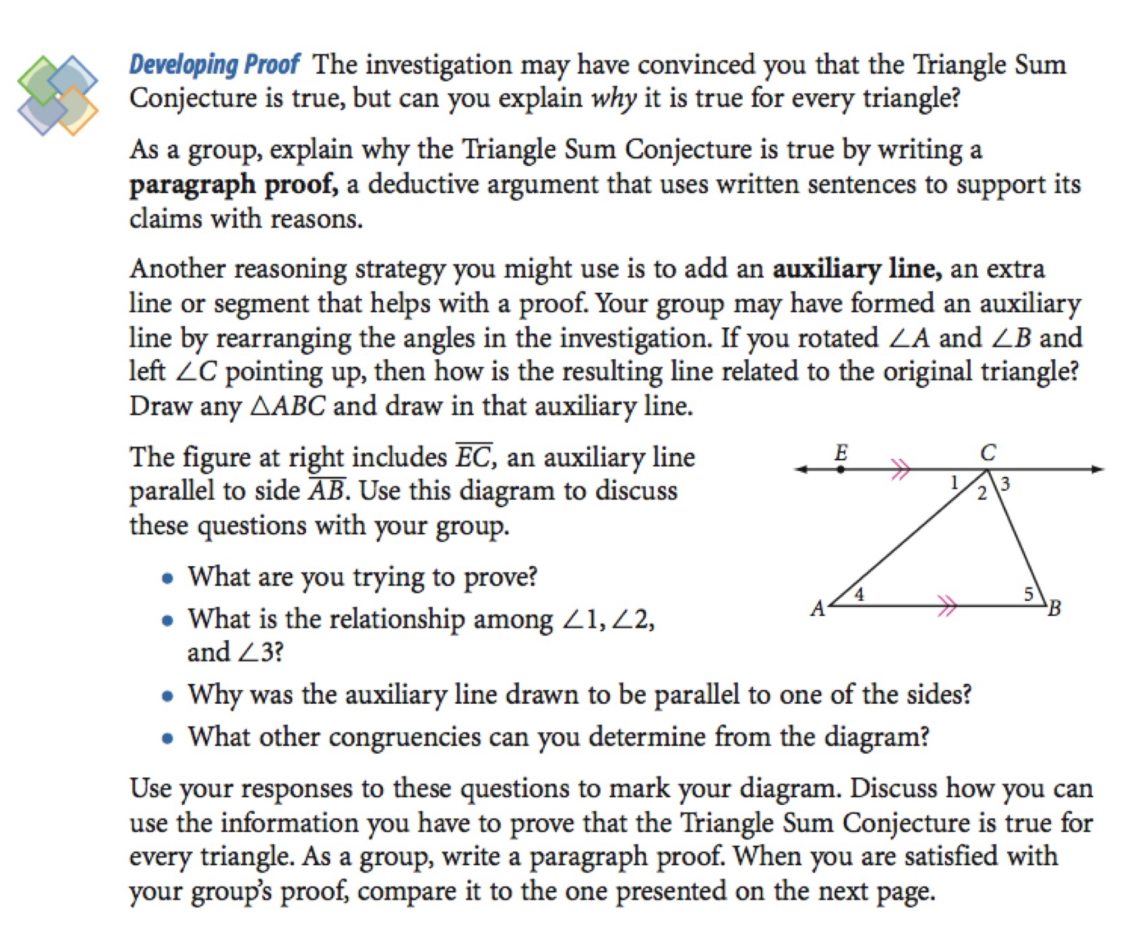 homework help with geometric proofs